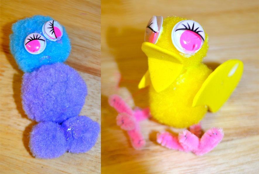 Pom-Pom-Monster-&-Easter-Chick