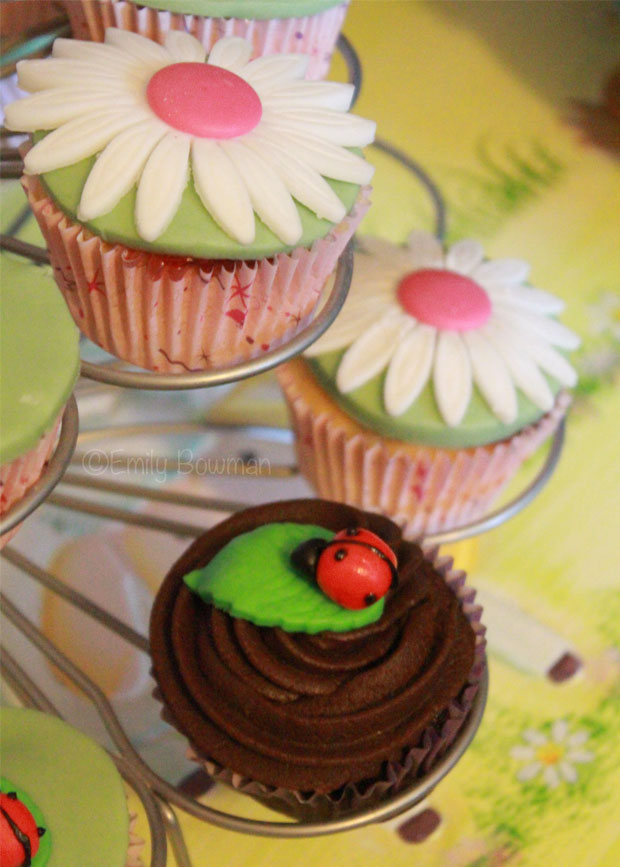 Ladybird-and-Flower-Cupcakes
