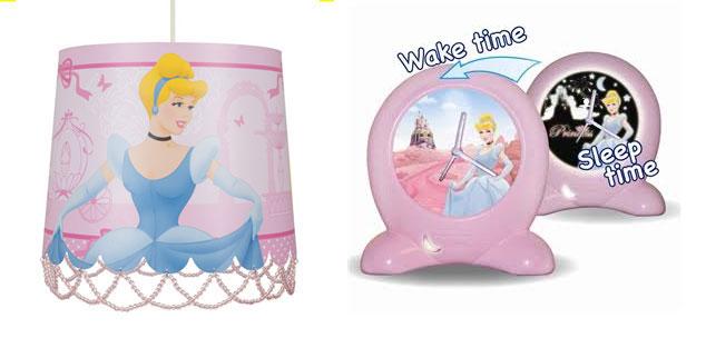 Disney Princess Lampshade Glow Clock