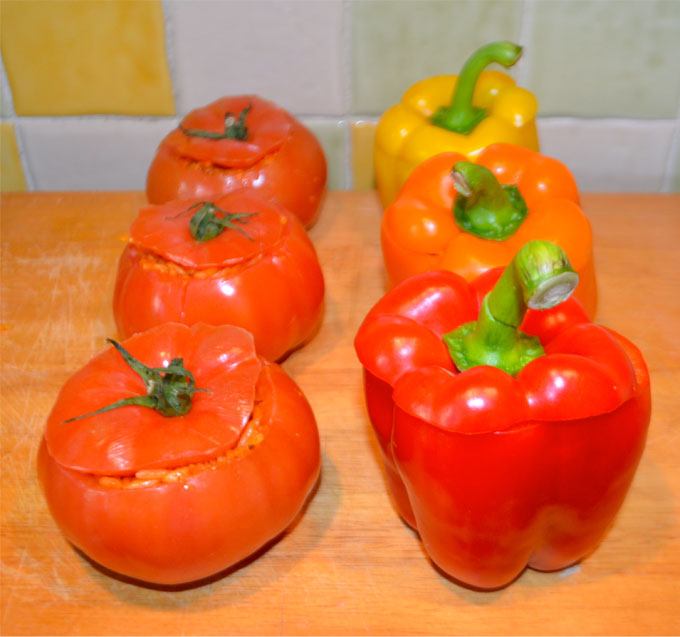 Stuffed-Peppers-&-Tomatoes-Recipe