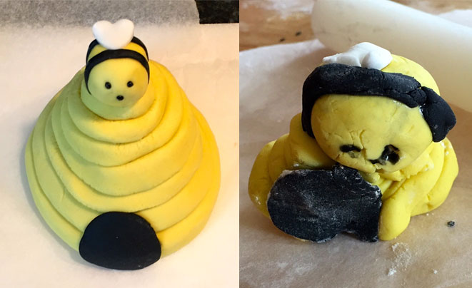 How-To-Make-An-Icing-Bee-Hive