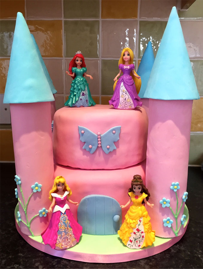 Disney Princess Party - Making A Princess Castle Cake