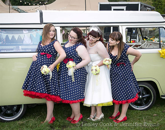 50's-Style-Wedding-With-VW-Campervan