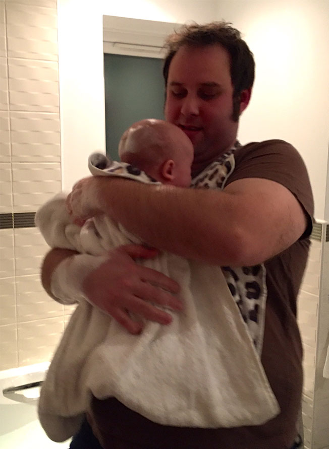 making baby bath time easier
