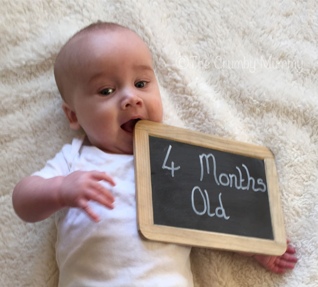 hungry 4 month old baby