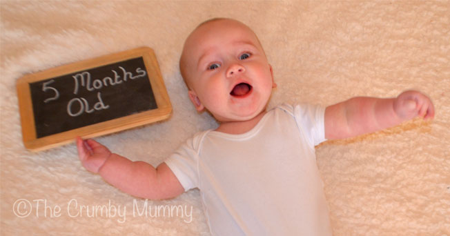 happy 5 month old baby boy