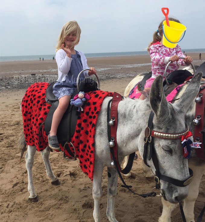 riding a donkey at blackpool