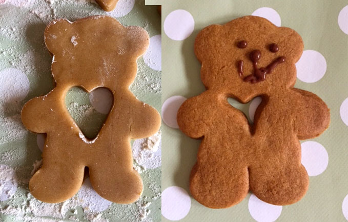 beautiful teddy bear biscuit
