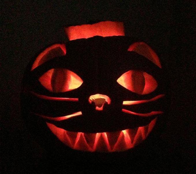cat pumpkin design