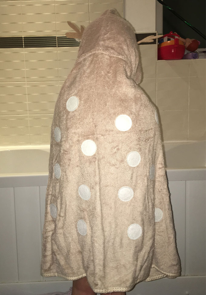 fun reindeer dress up towel