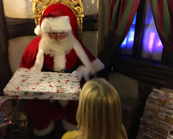 getting a gift from the real father christmas