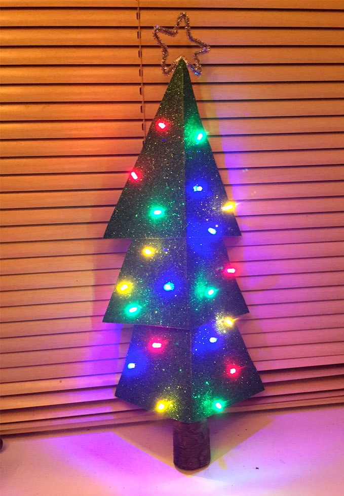 light up christmas tree craft