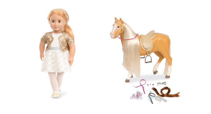 our generation doll and horse for christmas