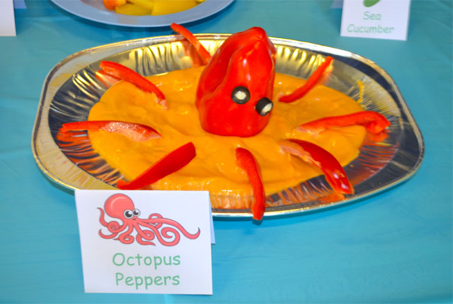 under the sea party food octopus peppers