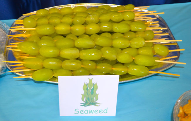 under the sea party food seaweed grapes