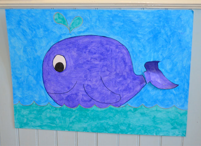 make you own pin the tail on the whale game