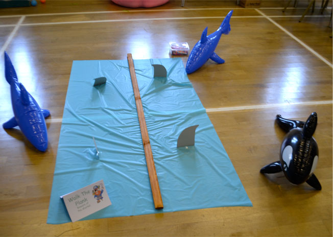 walk the plank party game for an under the sea themed party