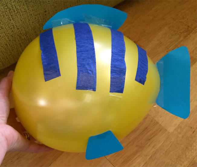 how to make a balloon flounder fish
