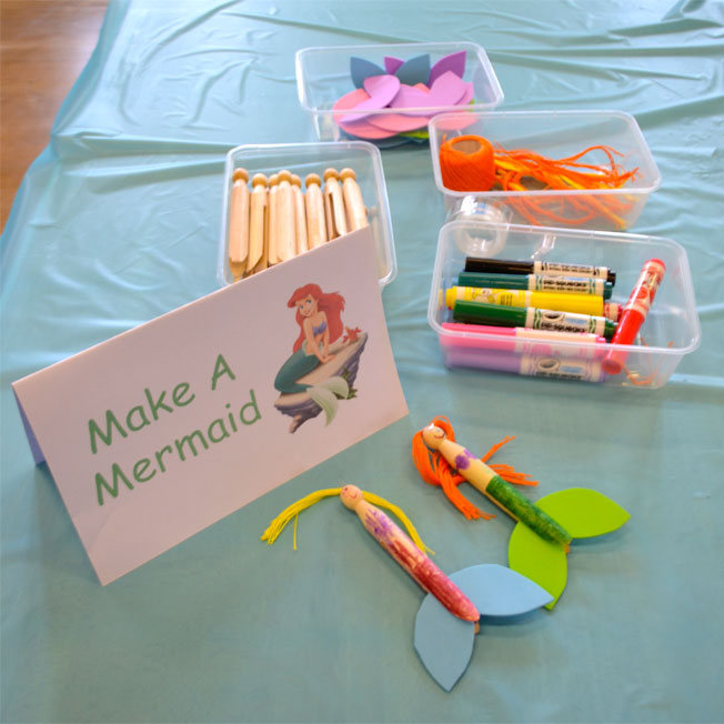 make a mermaid under the sea party craft