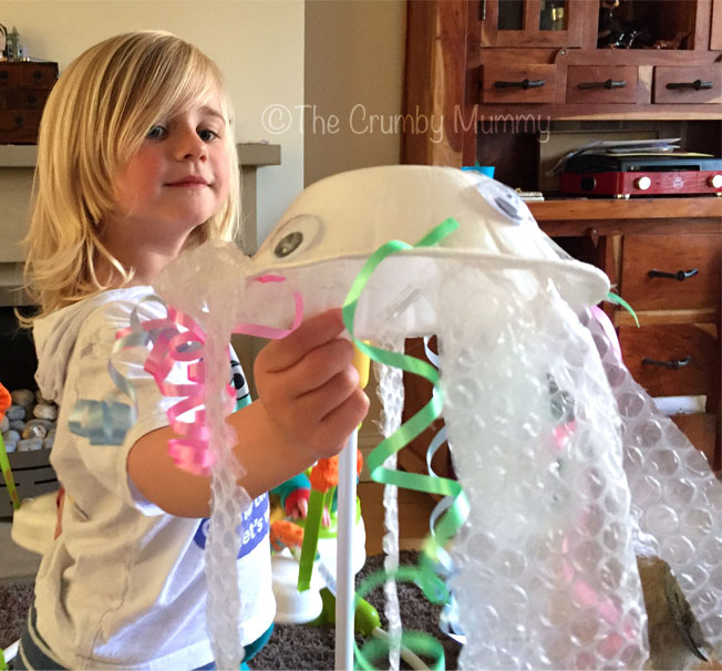 kids jellyfish craft
