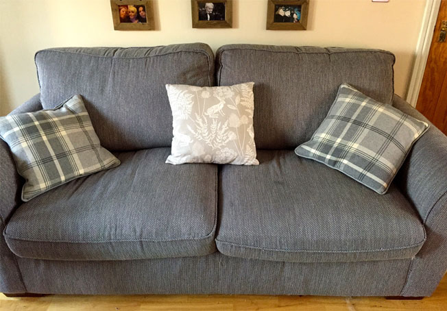 making cushions to change a sofa