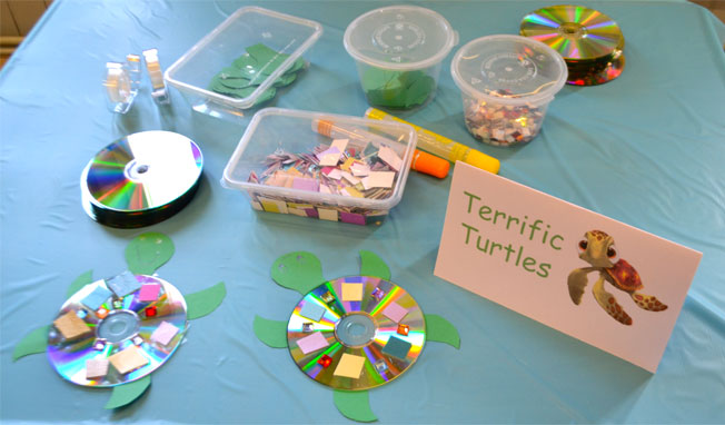 how to make a cd turtle