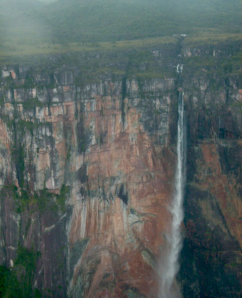angel falls in the dry season