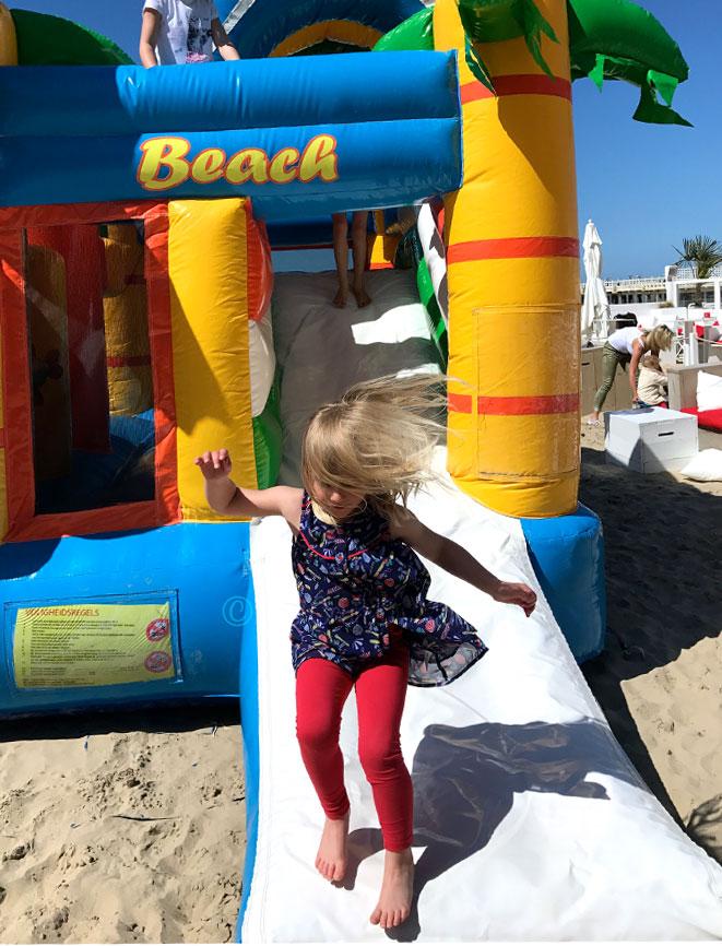 beach bouncy castle