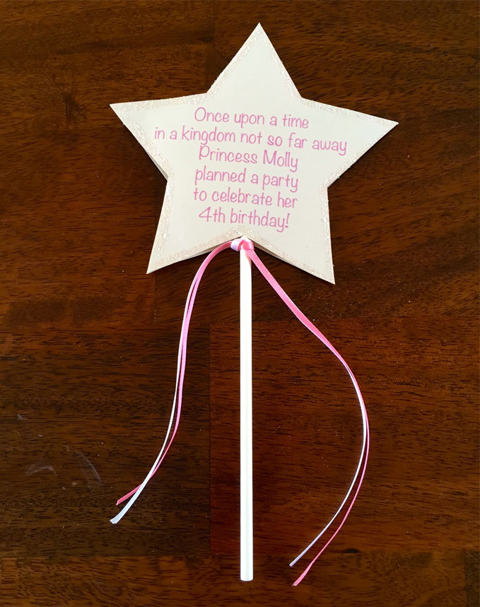 Disney Princess Party - Invitations