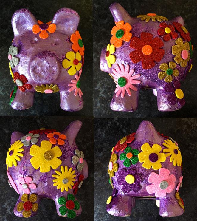 A Very Sparkly Piggy Bank