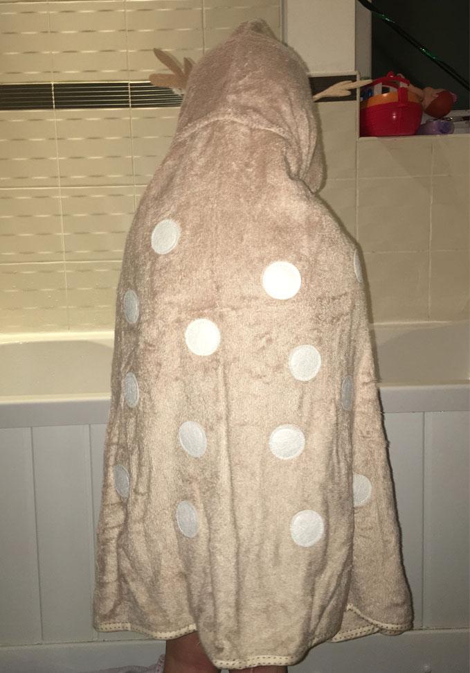 fun reindeer dress up towel