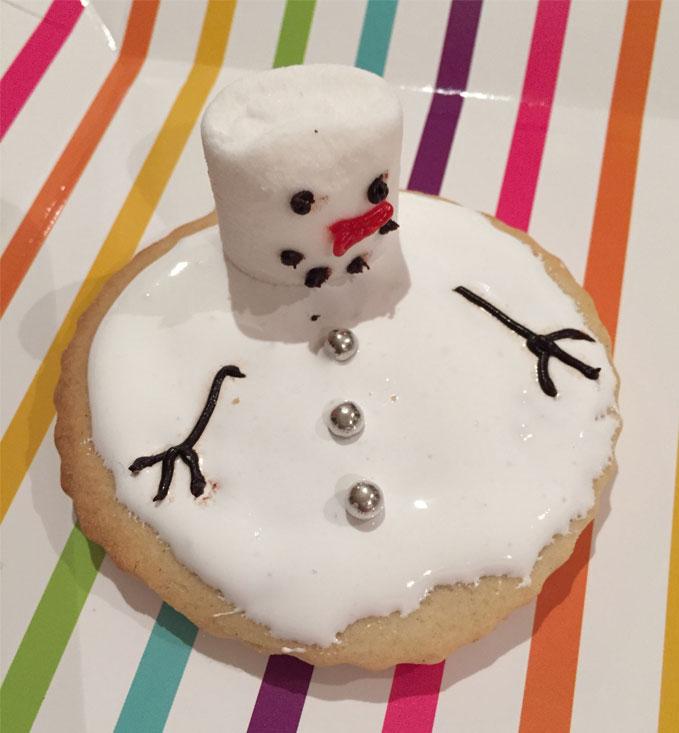 Snowman Splat Biscuits