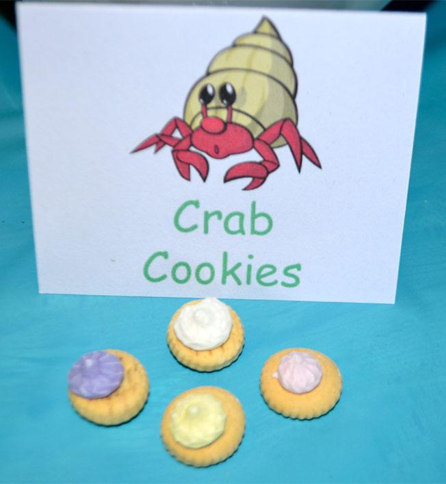 under the sea party food hermit crab cookies