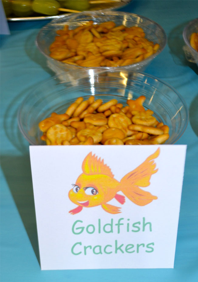 under the sea party food goldfish crackers