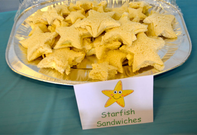under the sea party food starfish sandwiches